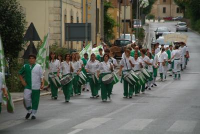 Granocchiaio during the parade