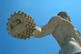 Giocatore di pallone col bracciale, Stadio dei Marmi, Roma.