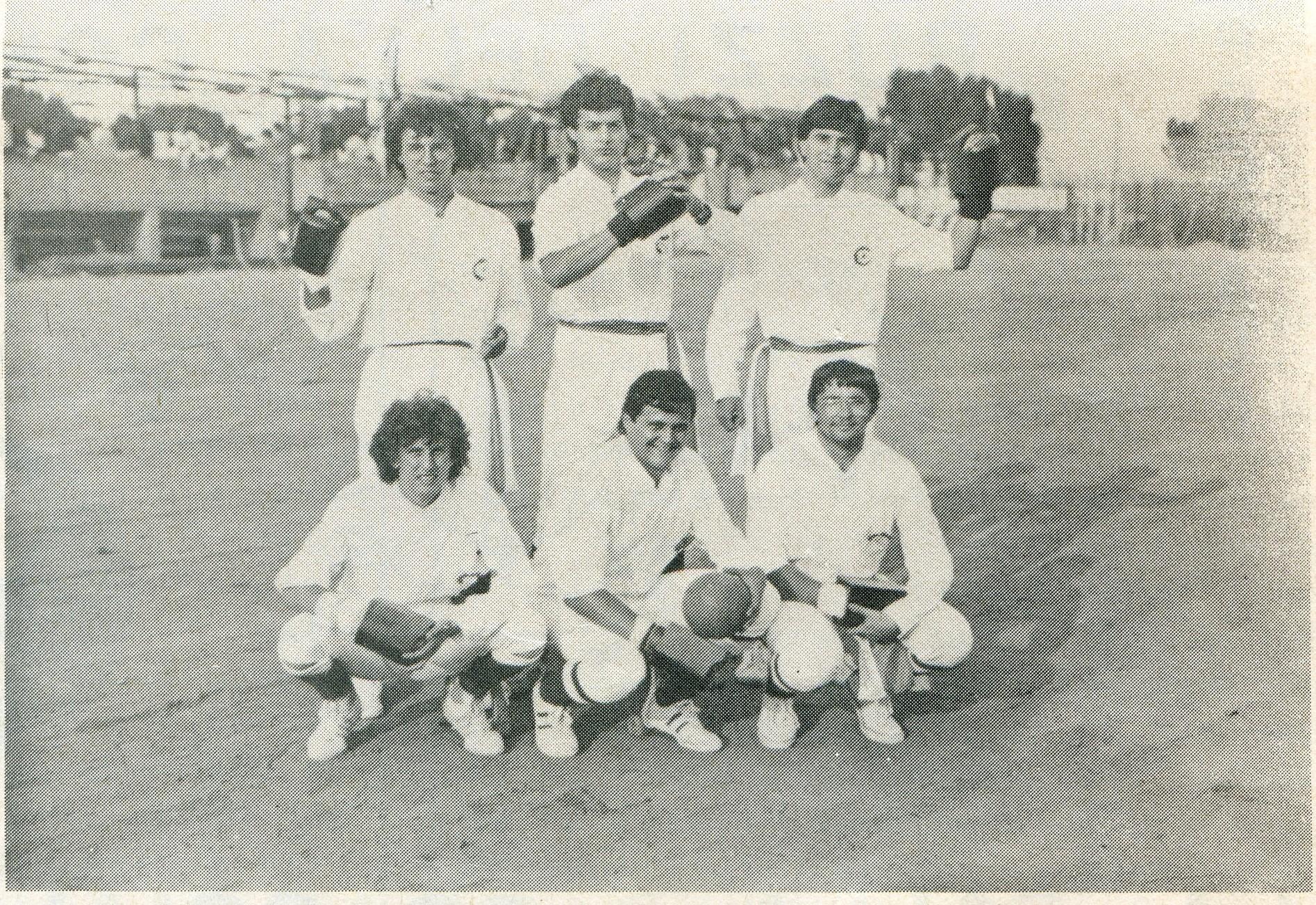 La prima squadra di Palla al Bracciale del Granocchiaio - 1981